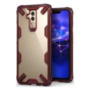 Husa Protectie Spate Ringke Fusion X Transparent / Rosu pentru Huawei Mate 20 Lite