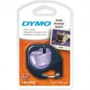 Dymo 12267 (S0721530) Tape Zwart op transparant (12 mm)