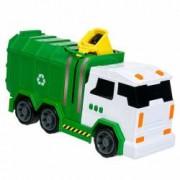 Masina de reciclat cu sunete si lumini verde 39x11x18 cm