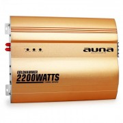 Auna Goldhammer Amplificador coche 2 canales 2200W