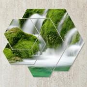 Tablouri natura 4 piese - Prospetimea cascadei