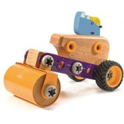 Djeco Zooblock Rhino Roll Construction Vehicle