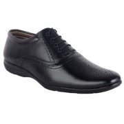ShoeAdda Easy Walk Black Brogue Style Shoes