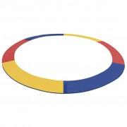 vidaXL Almofada segurança PVC multicolor para trampolim redondo 4,57 m