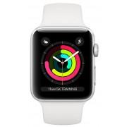Apple Watch 3 42mm (Srebrny z opaską sportową w kolorze białym)