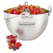 Vas tip Maslin pentru prapart gem, dulceata si marmelada, Otel inoxidabil 304, AJ000068