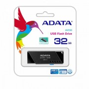 USB DRIVE, 32GB, A-DATA UV330, USB3.1, Black (AUV330-32G-RBK)