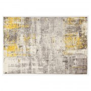 Miliboo Teppich Elfenbeinfarben und Gelb 160 x 230 cm CAPS