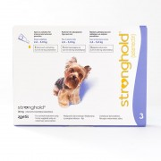 Stronghold for Dogs 2.6-5kg (5-10lbs) Violet, 3 Pack