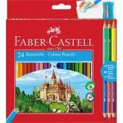 Creioane colorate 24+3 buc/set Eco Faber-Castell