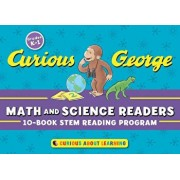 Curious George Math and Science Readers: 10-Book Stem Reading Program 'With Cards', Paperback/H. A. Rey
