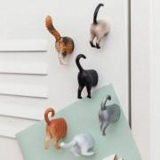 Kikkerland Butt magneten (set van 6) - Katten