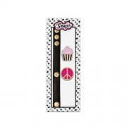 Snap 27t Girls DIY PU Leather Bracelet - Interchangeable Gold Plated Cupcake and Pink Peace Enamel Snaps