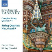 Video Delta Taneyev / Carpe Diem String Quartet - Complete String Quartets 4 - CD