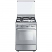 SMEG Cx51sv Cucina 60x50 4 Fuochi A Gas Forno Elettrico Ventilato 55 Litri Class