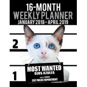 "2018-2019 Weekly Planner - Most Wanted Ojos Azules: Daily Diary Monthly Yearly Calendar Large 8.5"" X 11"" Schedule Journal Organizer Notebook Appointme"