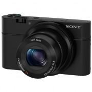 Aparat foto digital Sony Cyber-Shot DSC-RX100, 20.2MP, FullHD, Black + Geanta Piele LCJRXAB