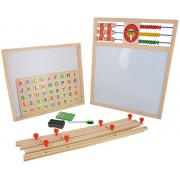 SRI 1+1 Drawing Board with Abacus, Mathematical Calculations & English Alphabets