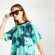 McQ Fluid Tee Dress Green