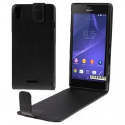 Vertical Flip Leather Case for Sony Xperia T3 / M50W(Black)