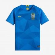 Maillot de football 2018 Brasil CBF Stadium Away pour Enfant plus âgé - Bleu