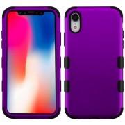 Funda Case Iphone XR Doble protector Uso Rudo Tuff - lila