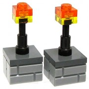 LEGO Minecraft Miscellaneous Accessory Pair of Torches