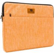 """Tech Supplies - MTS15O Premium Selection Soft Sleeve Voor de Apple Macbook Air / Pro (Retina) 15 Inch - 15.6"""" Case - Fluweel zacht van binnen Bescherming Cover Hoes - Ook geschikt voor alternatieve laptop merken - Oranje"""