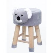 Welhouse India Koala Animal Shaped Ottoman/Foot Stool for Kids 30x30x42CMS- Grey