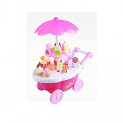Generic Pink Ice-cream&Candy Shopping Cart Kit Kids Role Pretend Play Gift 39pcs