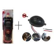 КОМПЛЕКТ: Спрей за защита на кабелите на автомобилите MOTIP 500 мл. + Електронен уред прогонващ мишки, плъхове и белки в транспортни средства Gardigo