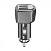 Cellular Line Cellularline USB Car Charger Dual Plus - CaricabatterieUniversale a 21W e finiture in metallo Nero