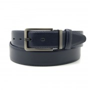 Men leather belt Willsoor 8533 in dark blue color