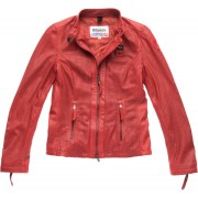 Blauer USA Miller Perforated Ladies Leather Jacket Red XL