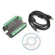 Qinlorgo NVUM5-SP CNC 100KHz USB MACH3 Interface Board Controlador de 5 ejes para motor paso a paso