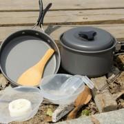 Outdoor Camping Ultra Peso Ligero 15 Piece Cookware Apilable Set