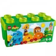 Конструктор ЛЕГО ДУПЛО - Моята първа кутия с тухлички и животни - LEGO DUPLO Creative Play, 10863