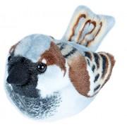 Wild Republic Audubon Birds House Sparrow Plush with Authentic Bird Sound, Stuffed Animal, Bird Toys for Kids and Birders
