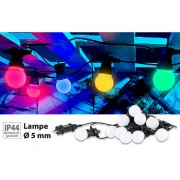 Party-LED-Lichterkette m. 10 LED-Birnen, 3 Watt, IP44, 4-farbig, 4,5 m | Lichterkette