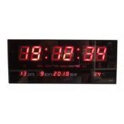 Ceas De Birou Cu LED Rosu Super Design Afisare Temperatura Data Alarma Negru