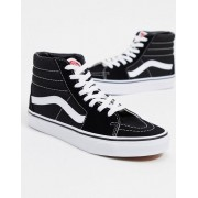 Vans SK8-Hi trainers in black and white - female - Black - Size: 7
