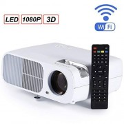 beiping Proyector Full HD 2600 Lúmenes 800X 480Dpi Hdmi Led Proyector para 1080P Video Proyector Home Media Player Office Proyector Blanco