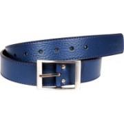 Tommy Hilfiger Men Casual, Formal Blue, Grey Genuine Leather Belt
