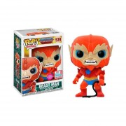 Funko Pop Beast Man Flocked Nycc Comic Con Fall Convention Textura Afelpada Masters Of The Universe