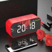 Портативен часовник с Bluetooth 5.0 колонки, червен