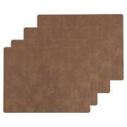 LindDNA - Tischset Square L, 35 x 45 cm, Nupo natur (4er-Set)