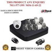 Dahua 2 MP HDCVI 8CH DVR + Bullet Camera 5Pcs and Dome Camera 1Pcs CCTV Combo