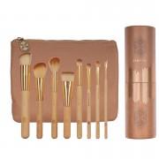 Set 8 pensule machiaj Bamboo Luxury + Borseta Cadou