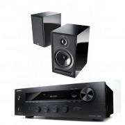Pachet Amplificator Receiver Onkyo TX-8020 + Boxe Acoustic Energy 101 desigilat