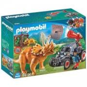Комплект Плеймобил 9434 - Бракониерско АТВ с трицератопс, Playmobil, 2900390